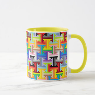 Colorful pixel pattern mug