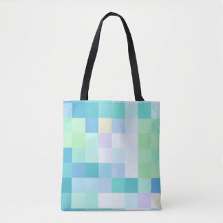 Colorful Pixellated Blue Ocean Tote Bag