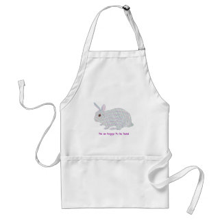 Colorful Plaid Bunny I'm so hoppy to be here apron