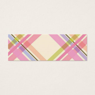 Colorful Plaid Profile Card