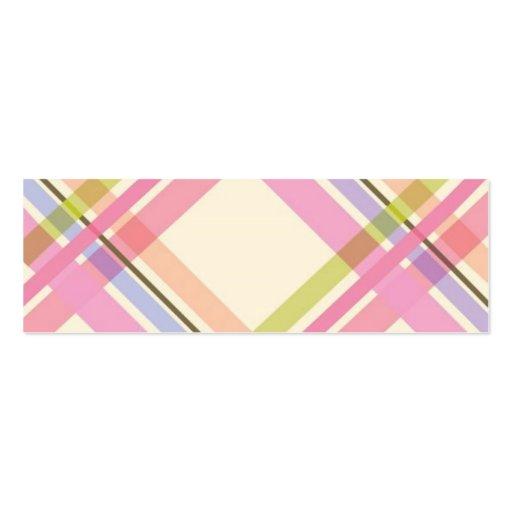 Colorful Plaid Profile Card Business Card