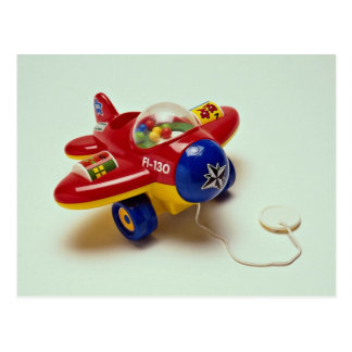 Colorful plane toy for kids postcard