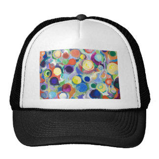 Colorful Planets (abstract expressionism) Hat