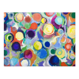 Colorful Planets (abstract expressionism) Postcard