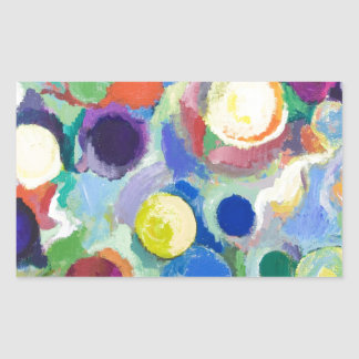 Colorful Planets abstract expressionism Sticker