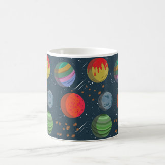 Colorful Planets in Outer Space Coffee Mug