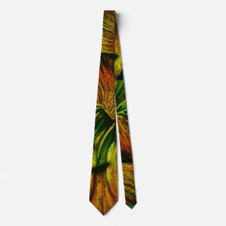 colorful plant design original abstract quirky tie