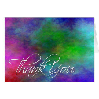 Colorful Plasma Cloud Thank You Card