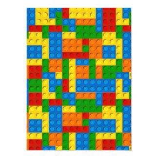colorful plastic blocks 14 cm x 19 cm invitation card