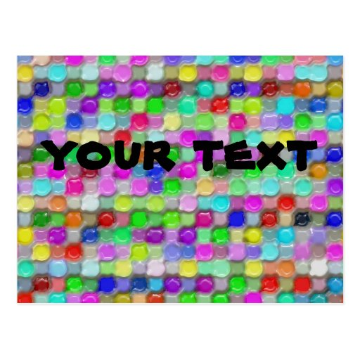 colorful plastic wax pattern post cards