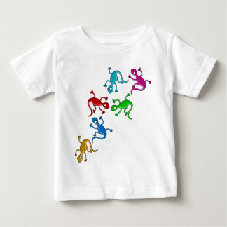 Colorful, playful lizards baby T-Shirt