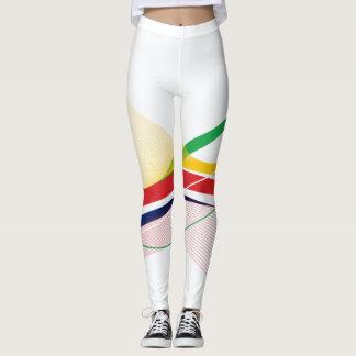 Colorful Playful Technical Fashion Leggings