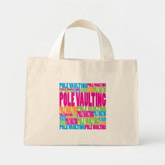 Colorful Pole Vaulting Mini Tote Bag