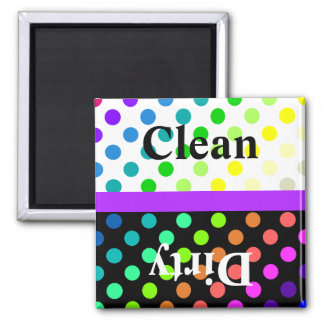 Colorful Polka Dot Dishwasher Magnet