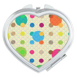 Colorful Polka Dot Makeup Mirror