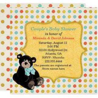 Colorful Polka Dot Neutral Baby Shower Invitation
