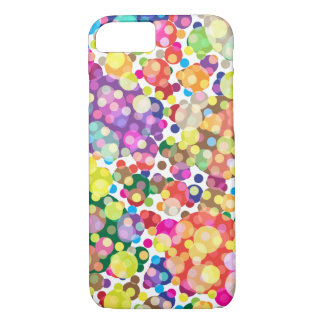 Colorful Polka Dot Pattern iPhone 7 Case