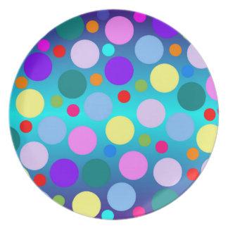 Colorful Polka Dot plate