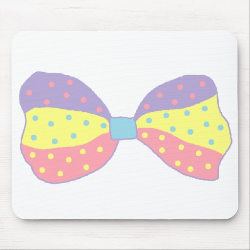 Colorful Polka Dots Bow Mousepad