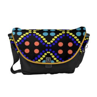 colorful polka dots design commuter bag