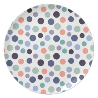 Colorful Polka Dots Dinner Plate