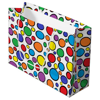 Colorful Polka Dots Large Gift Bag