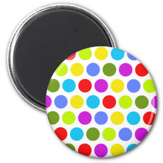 Colorful Polka Dots 6 Cm Round Magnet
