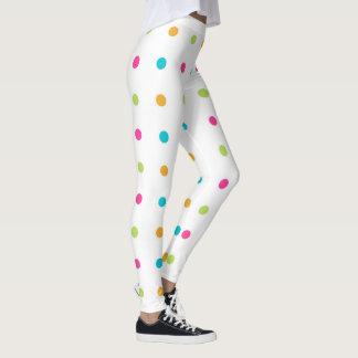 Colorful Polka Dots Spandex Leggings
