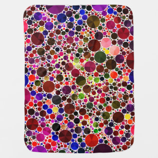 Colorful Polkadot Bling Receiving Blanket