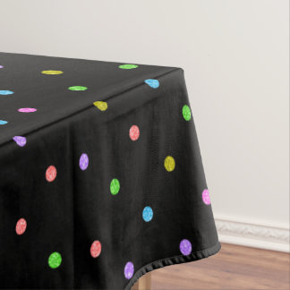 Colorful Polkadots Pattern Tablecloth