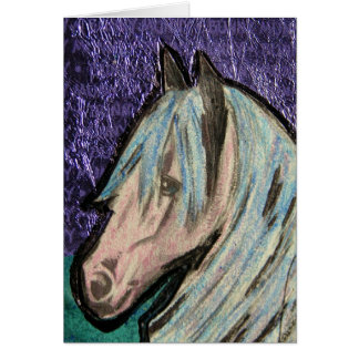 Colorful Pony Greeting Card