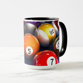 Colorful Pool Lover Billiard Balls Mug