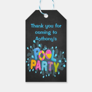 Colorful Pool Party Personalized Gift Tags