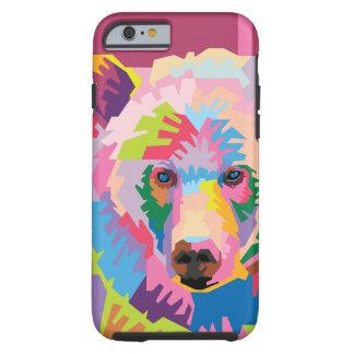 Colorful Pop Art Bear Portrait Tough iPhone 6 Case