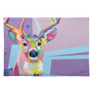 Colorful Pop Art Deer Portrait Placemat