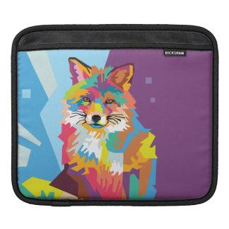 Colorful Pop Art Fox Portrait iPad Sleeve