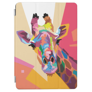 Colorful Pop Art Giraffe Portrait iPad Air Cover