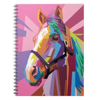 Colorful Pop Art Horse Portrait Notebook