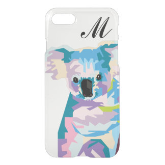 Colorful Pop Art Koala Monogrammed iPhone 8/7 Case