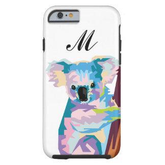Colorful Pop Art Koala Monogrammed Tough iPhone 6 Case
