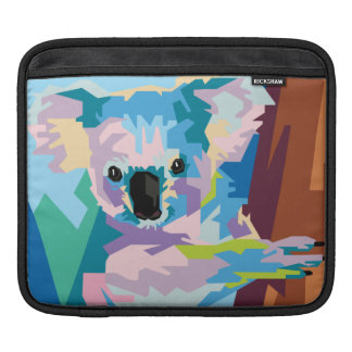 Colorful Pop Art Koala Portrait iPad Sleeve