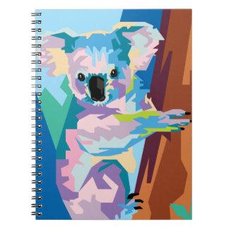 Colorful Pop Art Koala Portrait Notebook