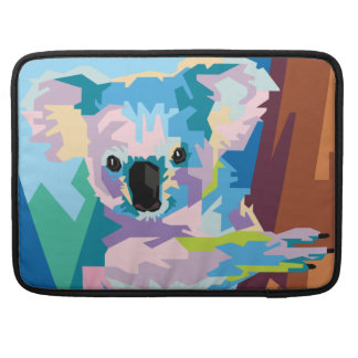 Colorful Pop Art Koala Portrait Sleeve For MacBooks