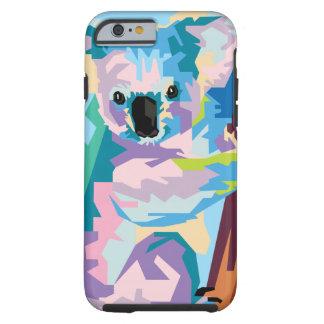 Colorful Pop Art Koala Portrait Tough iPhone 6 Case