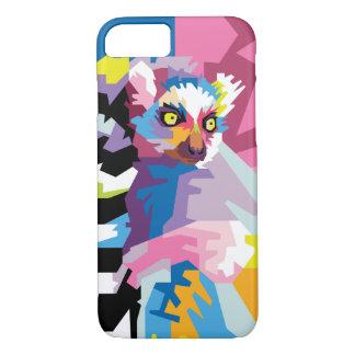 Colorful Pop Art Lemur Portrait iPhone 8/7 Case
