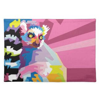Colorful Pop Art Lemur Portrait Placemat