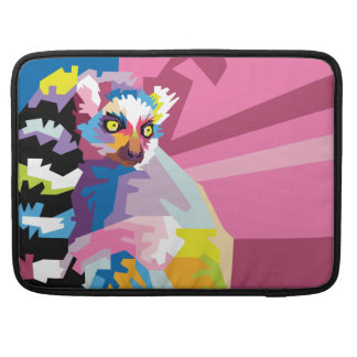 Colorful Pop Art Lemur Portrait Sleeve For MacBook Pro