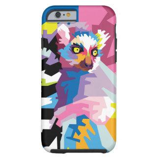 Colorful Pop Art Lemur Portrait Tough iPhone 6 Case