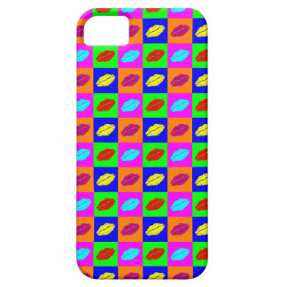 Colorful pop art lipstick kiss iPhone 5 covers