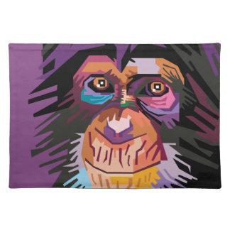 Colorful Pop Art Monkey Portrait Placemat